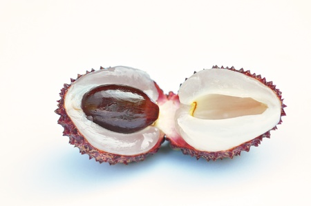 lichee: Lychee isolated on white background