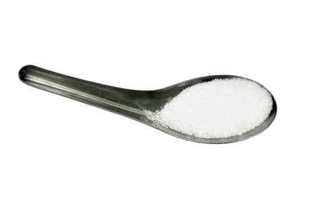 glutamate: Ajinomoto or monosodium glutamate on a spoon  The flavour enhancing chemical is widely used in Asian cuisine and in food processing