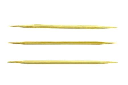 cuatro palillos de dientes individuales, aislados en blanco Foto de archivo - 13506747