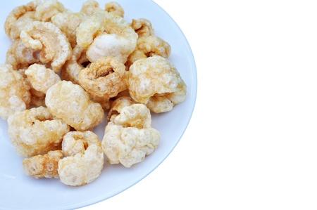 crackling: Chicharon a Popular Filipino Snack Made of Deep Fried Pork Skin