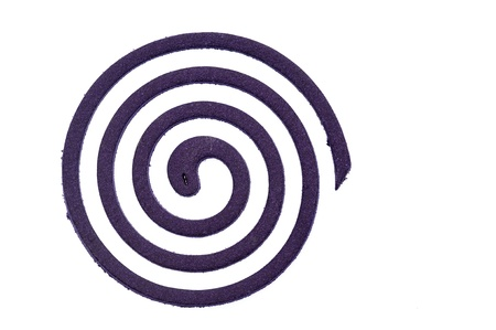 Purple Mosquito coil isolated Stock Photo - 13819149