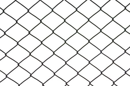 Metal net isolated on a white background photo