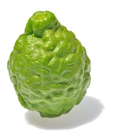 sanguisuga: Tre leech frutti calce isolato su bianco