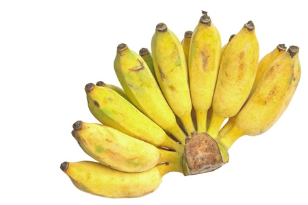 cultivated banana on white background Stock Photo - 14711686
