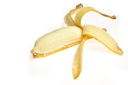 cultivated banana on white background Stock Photo - 14711665