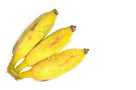 cultivated banana on white background Stock Photo - 14711671