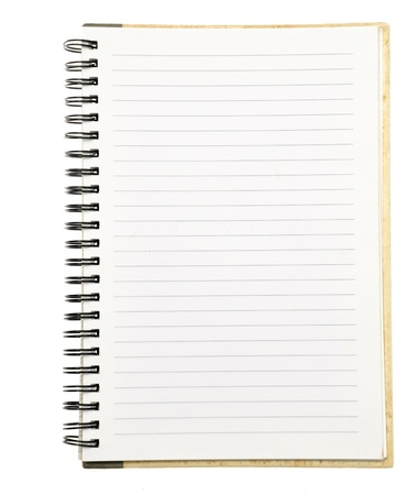 paper notebook right page Banque d'images