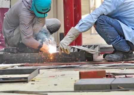 welder in construction site Stock Photo - 15299265
