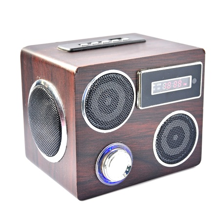 fm: Minispeaker - FM receiver. Audio box for mobile phones and laptops with card-reader, amplifier and MP3 player