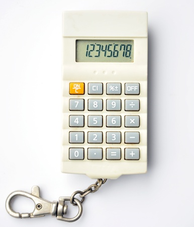 small calculator isolated on white background  Stock Photo - 15299301