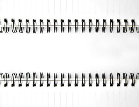 papier spiraal notebook voor textuur of achtergrond