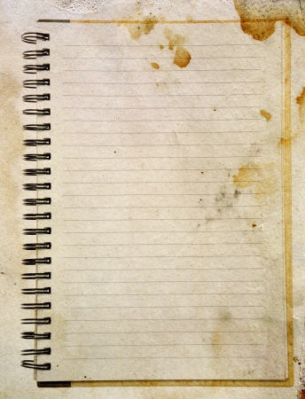 Old paper notebook right page Stock Photo - 15441613