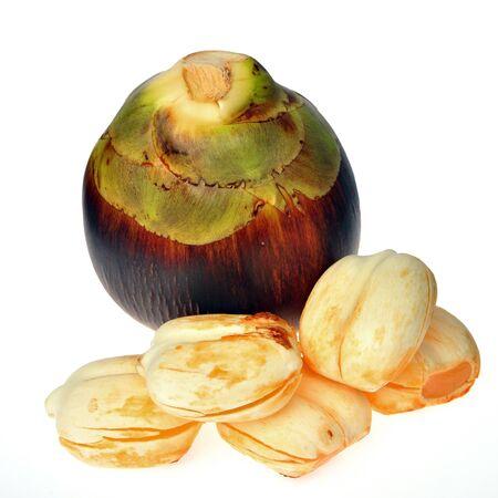 Sugar palm friut isolated on white background