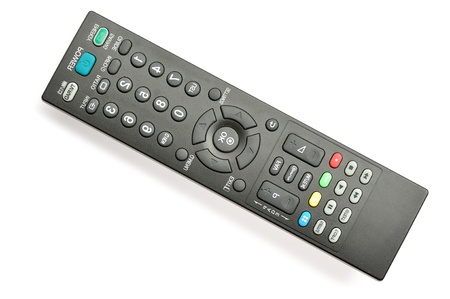 remote controls on the white background Stock Photo - 15775102