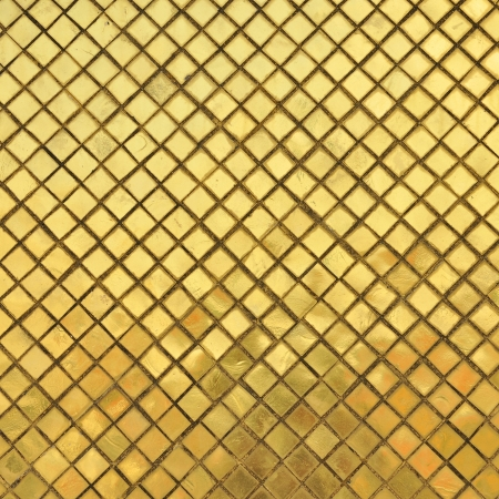 golden wall of thai temple  photo
