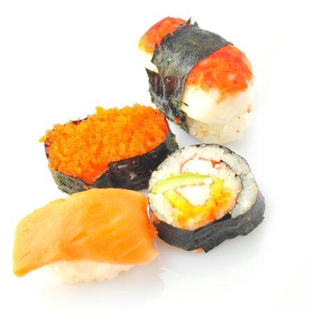 Sushi solated on white background