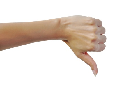 Female hand with thumb down Stock Photo - 16251693