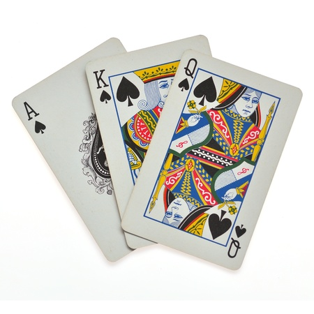 royal flush playing cards Editorial
