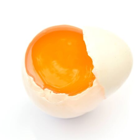 duck egg: white duck egg isolated on a white background