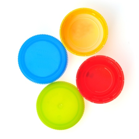 Plastic Caps of the bottle isolated Banque d'images