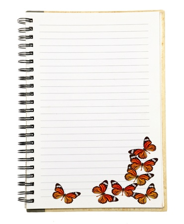 Notebook with Butterfly  Stock Photo - 17233474