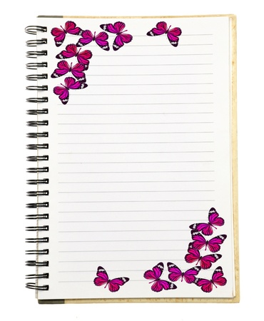 Notebook with Butterfly  photo