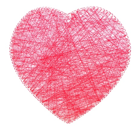 string together: Red heart