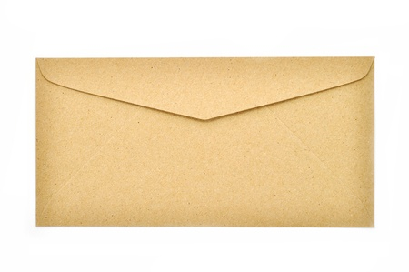 Brown envelope isolated on white background  Stock Photo - 18624174