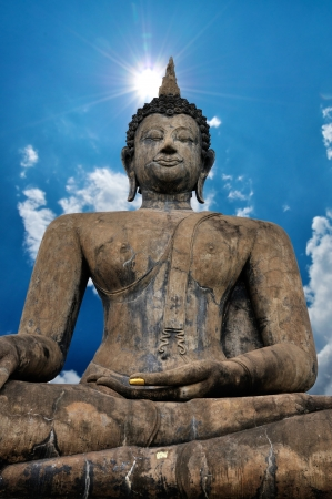 Big Buddha Statue with nice blue sky background. photo