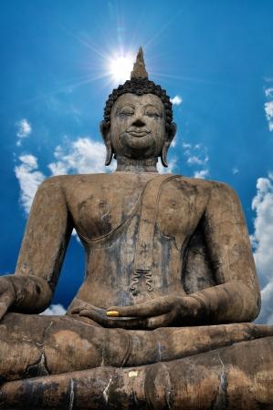 Big Buddha Statue with nice blue sky background. Stock Photo - 19911880