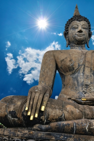Big Buddha Statue with nice blue sky background. Stock Photo - 19911881