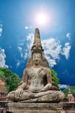 Big Temple Statue with nice blue sky background. Stock Photo - 19911877