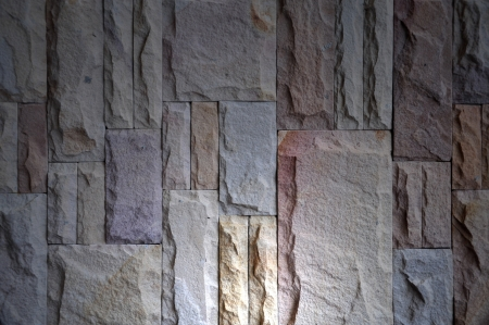 Background of stone wall made with block photo