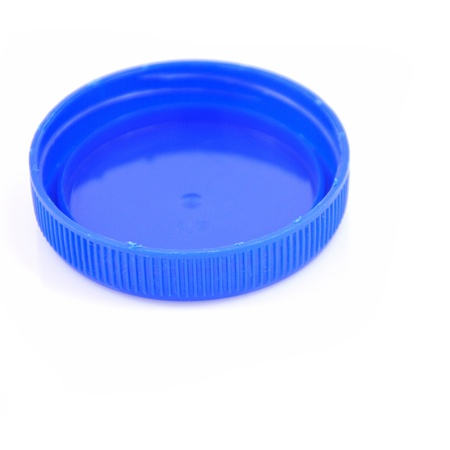 bottle cap: Plastic bottle caps isolated against a white background