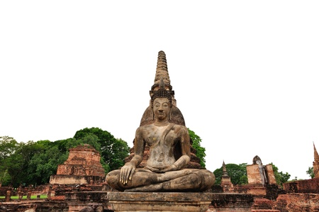 Buddha statue of Thailand on whte background Stock Photo - 20325493