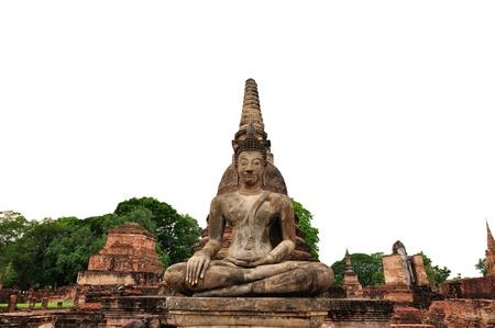 Buddha statue of Thailand on whte background Stock Photo - 20325493