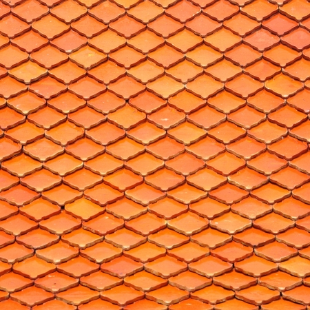 Orange roof tiles for background or texture photo