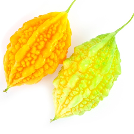 balsam: Balsam pear on white background Stock Photo