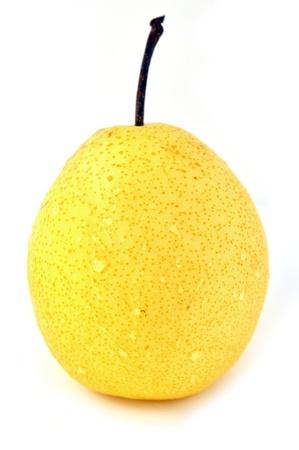 Fresh oriental pear on a white background photo