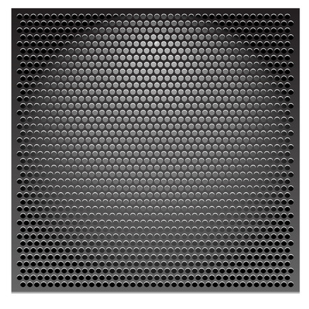 Abstract texture, silver metal grill seamless  Circle pattern  Dot, speaker, hole, industrial background  Dot, grate, grid  Raster version   Illustration