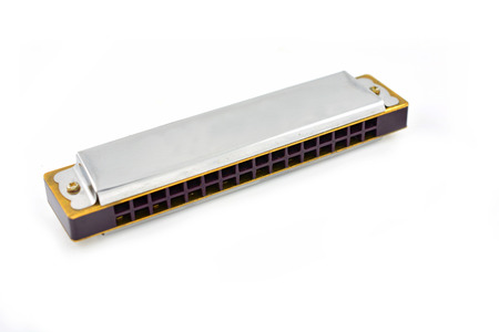 harmonica: harmonica isolated on white background