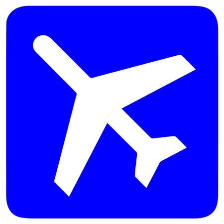 depart: Airport sign on white background  Illustration