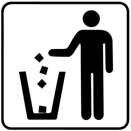 Garbage Recycling Symbol  Vector
