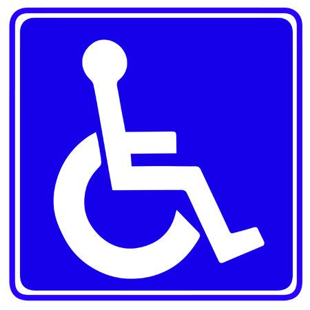 Illustration of cripple sign  Illustration