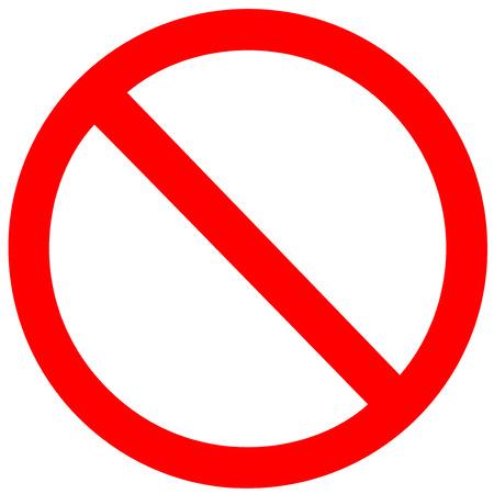 Aucun signe sur fond blanc Banque d'images - 30534082
