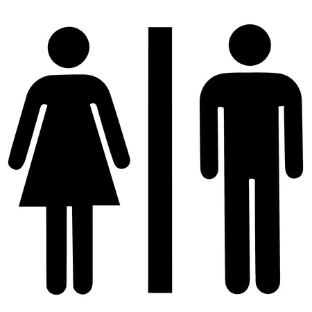 man symbol: Man & Woman restroom sign