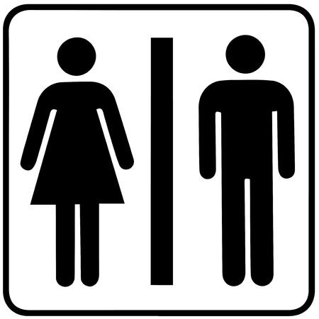 Man & Woman restroom sign