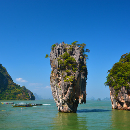phang nga: Island in Phang Nga, Thailand Stock Photo
