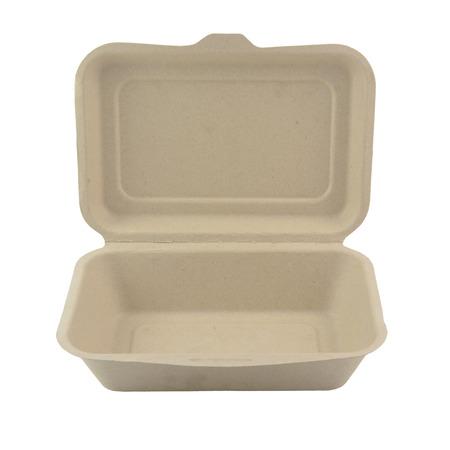 Plant fiber food box isolated on white background
