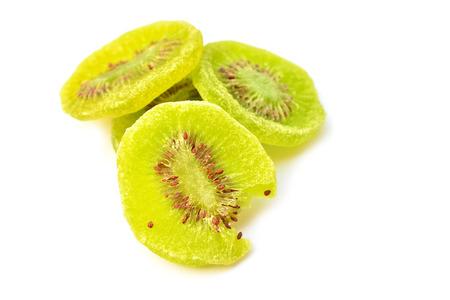 dehydration: dried kiwi fruit isolated on the white background Stock Photo